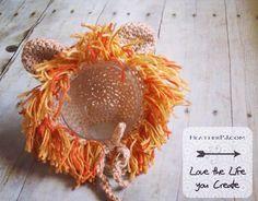 heatherpjohnson416 New Lion bonnets. Baby - child sizes at www.heatherpj.com #orange #etsygifts #etsyfinds #burntorange #lion #crochet #crocheting #crochetlove #crocheted #crocheter #crochetersofinstagram #lionhat #lionmane #heatherpj #handmade #babylion #babybonnet #crochetedbonnet #crochetbonnet