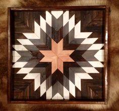 Wood wall art, barn quilt, farmhouse decor, geometric art, 3d wood wall art, quilt star