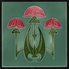 Rhodes Art Nouveau tile