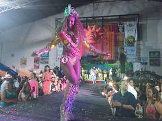 Gracyele Germano foi eleita a Rainha do Carnaval 2017 em Juiz de Fora (Foto: Cláudia Oliveira / G1)