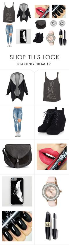 """""""imma party"""" by magconloma ❤ liked on Polyvore featuring Billabong, Fiebiger, Ted Baker, Max Factor and Michael Kors"""