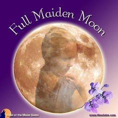 March Full Maiden Moon is the time of year to revel in your new beginnings, growth, exploration, and prosperity. Use this moon as an opportunity to gather your resources in preparation for the season of growth and activity that will soon be arriving. Full Moon Names, Howl At The Moon, New Beginnings, Wicca, Opportunity, March, Gems, Gemstones, Jewels