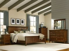 Shop for A America Queen Panel Bed, and other Bedroom Panel/Wall Beds at Kamin Furniture in Victoria, Texas. Murphy Bed Ikea, Murphy Bed Plans, Bedroom Sets, Bedding Sets, Master Bedrooms, Master Suite, Queen Bedroom, Gray Bedroom, Platform Bed Sets