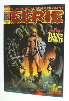 Rare vintage original 1974 Warren Publications EERIE by supervator