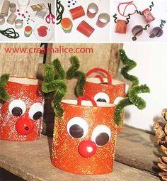 ★ ✄ DIY Déco Sapin Rennes de Noël / DIY Reindeer Toilet Paper Roll ✄ ★ http://www.creamalice.com/Coin_conseils/1-loisirs_creatifs_2013/11E-Tuto_Deco_Sapin_Rennes/DIY_Deco_Sapin_Rennes.htm