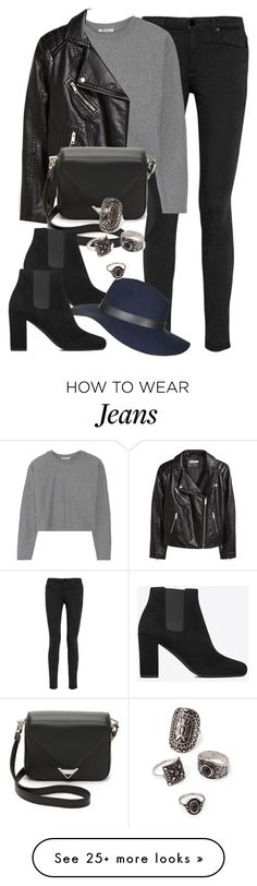 """Style #9596"" by vany-alvarado on Polyvore featuring Alexander Wang, T By Alexander Wang, H&M, Yves Saint Laurent, Topshop and Forever 21"