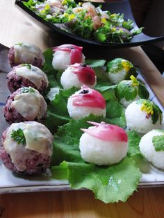 Sushi: is that shiso temari with cheese on the left?? YUMMM