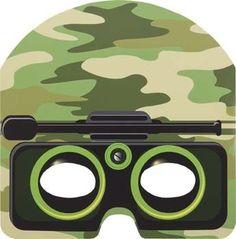 Camouflage masker en andere artikelen voor een army feestje bij Tuf-Tuf.NL