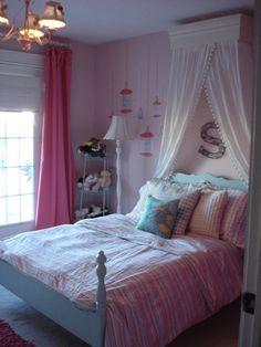 Pink & Aqua Bedroom Small Kids, Big Color Entry # 8. Big girl room for Ella