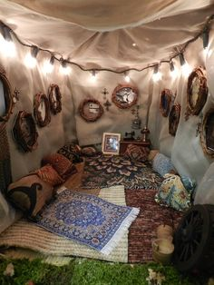 Turn the tent into a pillow-filled reading nook - 30 DIY Ideas How To Make Your Backyard Wonderful This Summer