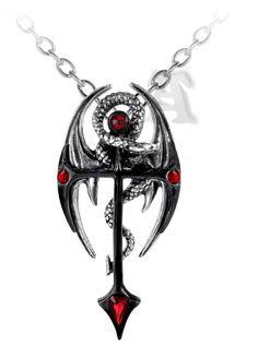 Dragoncreuz pendentif et chaine - Dragon - Alchemy Gothic - Heroic fantasy