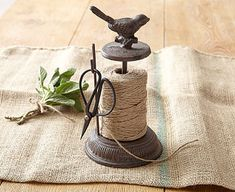 Original Gift Company Garden Twine Holder, Cast Iron An attractive and splendidly useful gift for sons of the soil (and daughters!). Bird-topped rustic cast iron string stand. (Barcode EAN=8714982071126) http://www.MightGet.com/february-2017-2/original-gift-company-garden-twine-holder-cast-iron.asp