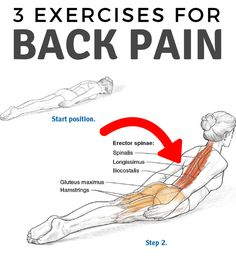 Three #Exercises for Back Pain #backpain #sciatica