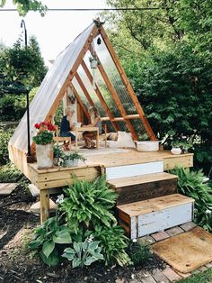 I found this on Pinterest and I sure would love to create this in my backyard for small dinner parties. #playhouse #scandistyle Outdoor Projects, Garden Projects, Dream Garden, Home And Garden, Garden Tree House, Summer House Garden, House Plants, Outdoor Spaces, Outdoor Living