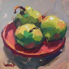 Pondering Pears - Original Fine Art for Sale - � by Cathleen Rehfeld