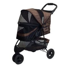 Pet Gear No-Zip Special Edition Pet Stroller Chocolate Brown - PG8250NZCH