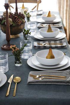 decorare la tavola con le pere