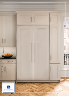 New Monogram Columns make it possible for you to seamlessly split up the refrigerator and freezer and install them hidden in plain sight, in the places that make the most sense for your kitchen design and lifestyle needs while providing a uniform look.