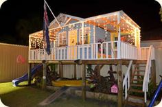 Organic Gardening Supplies Needed For Newbies Cubby House : Cubby Houses : Cubbyhouse : Cubbyhouses : Cubbykraft Australia Cubby House Plans, Kids Cubby Houses, Kids Cubbies, Play Houses, Kids Outdoor Play, Kids Play Area, Backyard For Kids, Play Areas, Indoor Play