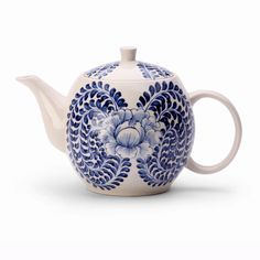 This beautifully hand painted teapot comes to you from Bat Trang, an ancient traditional pottery village of Hanoi, Vietnam.