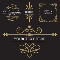 Calligraphic Text and Frames