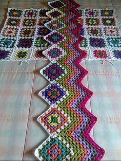 Delicadezas en crochet Gabriela: Patrones de motivos en ganchillo y zig zag