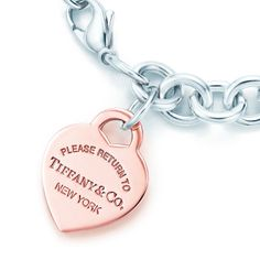 Return to Tiffany™ heart tag bracelet in sterling silver and RUBEDO® metal. #TiffanyPinterest