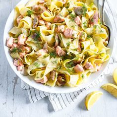 Ricardo's pappardelle recipe infuses juicy goodness into an easy dish. Wine Recipes, Pasta Recipes, Cooking Recipes, Healthy Recipes, Pasta Dishes, Food Dishes, Main Dishes, Pappardelle Recipe, Pasta Pizza