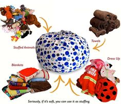 Creative QT Stuffed Animal Storage Bean Bag Chair - Toddler Size Stuff 'n Sit Organization for Kids Toy Storage - Available in a Variety of Sizes and Colors Blue Polka Dot) Boy And Girl Shared Bedroom, Teen Girl Bedrooms, Sibling Bedroom, Animal Dress Up, Diy Toy Storage, Storage Rack, Stuffed Animal Storage, Stuffed Animals, Bookshelves Kids
