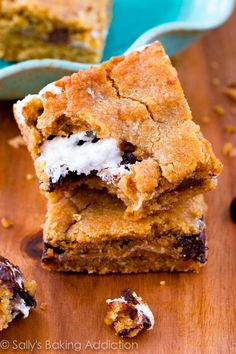 Soft-baked, chewy S'more Cookie Bars - no campfire needed!