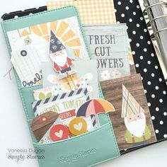 Carpe Diem Planner by design team member Vanessa Dugan featuring the Bloom & Grow Collection Diary Planner, Life Planner, Happy Planner, Planner Ideas, Carpe Diem Planner, Best Planners, Simple Stories, Journal Cards, Getting Organized