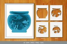 Cardboard Crafts, Paper Crafts, Pop Up Art, Art N Craft, Papercutting, Art Template, Craft Night, File Format, Box Art