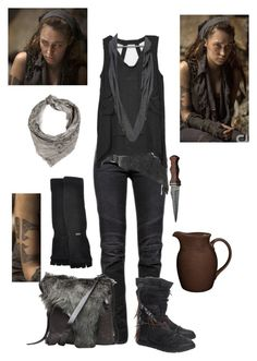 """Lexa The Commander - The 100"" by gone-girl ❤ liked on Polyvore featuring Balmain, Noritake, kangol, John Varvatos, Henry Beguelin, lexa, Grounder, TheCommander and Heda"