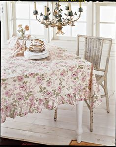 Archived image of the Simply Shabby Chic Rosalie Tablecloth