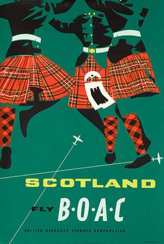 Vintage travel poster---Scotland Must return