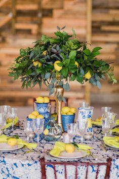 Tree Wedding, Wedding Table, Wedding Themes, Wedding Decorations, Wedding Blog, Italian Party, Italian Themed Parties, Lemon Party, Amalfi Coast Wedding