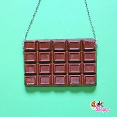 Tag someone who loves CHOCOLATE  Take your favourite sweet treat anywhere with you? If you are a real chocolate addict this handmade chocolate tablet PURSE is a must have in your wardrobe! Also available as a belgian white chocolate tablet clutch.
