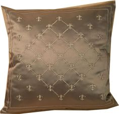 "haftowana srebrem poduszka / embroidered pillows exclusive / z kolekcji ""lilijki"" rozm. 40 cm x 40 cm. AHA Studio - Artistic Home Accessories"