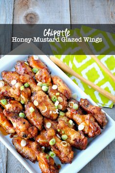 Chipotle Honey-Mustard Glazed Wings |www.flavourandsavour.com  Sweet and spicy with just the right amount of heat.