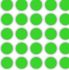 Signature Cirle - Fabric by the Yard - Grass #green #dots