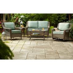 Hampton Bay Spring Haven Grey All-Weather Wicker Patio Chair with Bare Cushion-55-20301 - The Home Depot