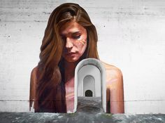 a series of arched doorways lead to the 'heart' of hawaiian artist hula's latest abandoned architectural painting.
