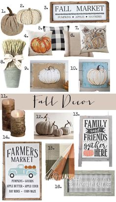 Fall Decor: The perfect items to get your home ready for Fall:  Adorable & affordable #farmhouse #fall #falldecor