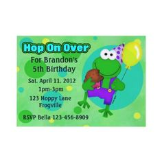 Happy #Frog Kids #Birthday #Party  do you have a little one that loves frogs?