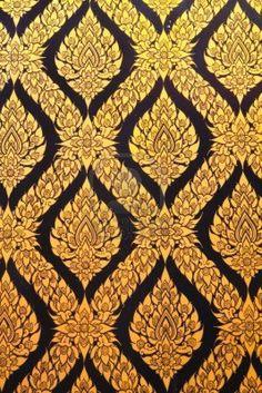 Thai art wall pattern, beautiful as wallpaper.