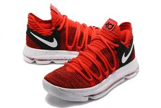 best service 77074 91df9 Official New August 2017 KD 10 University Red Pure Platinum Black Nike Zoom  KD X 10 Basketball Shoes Wholesale