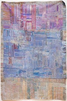 Byblos 33x86cm, mixed media on linen, 2009 . Huguette Caland