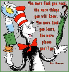 Dr. Seuss! Did you know, apparently we all say his name wrong? lol