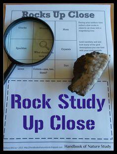 Week 14 - Free printable! @HBNatureStudy: Outdoor Hour Challenge- Rock Study With Magnifying Lens #homeschool