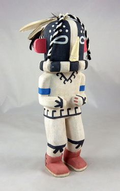 Territorial Indian Arts  Traditionally carved cottonwood root Kokoplelli Kachina by Fred Ross of Sichomovi, First Mesa.